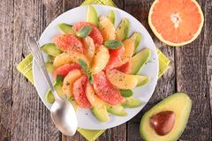 Avocado and grapefruit Stock Photos