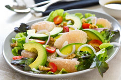Avocado,Grapefruit and walnut salad Stock Images