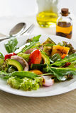 Avocado and Grilled vegetables salad Stock Photography