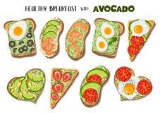 avocado grzanka ilustracji