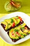 avocado grzanki pomidor Zdjęcie Royalty Free