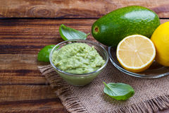 Avocado Guacamole sauce Royalty Free Stock Photo