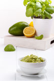 Avocado Guacamole sauce Royalty Free Stock Photos