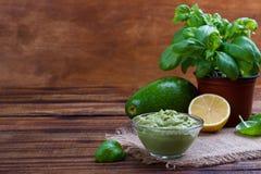 Avocado Guacamole sauce Royalty Free Stock Images