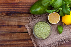 Avocado Guacamole sauce Stock Photo