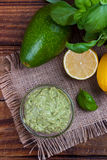 Avocado Guacamole sauce Stock Image