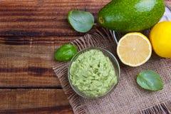 Avocado Guacamole sauce Royalty Free Stock Photos