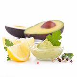 Avocado and guacamole Royalty Free Stock Photos