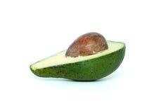 Avocado halb mit Kern Stockbild