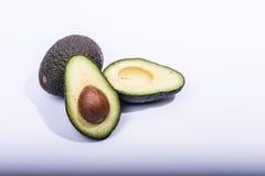 Avocado half cut Stock Photos