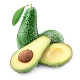Avocado with half isolated Stock Images