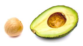 Avocado half isolated on white background Stock Photography