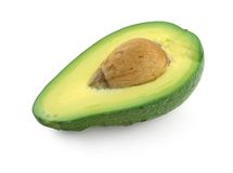 Avocado Half with Seed Royalty Free Stock Image