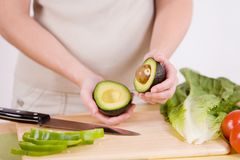 Avocado Halves Stock Images