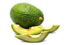 Avocado halves isolated on white background Stock Photography