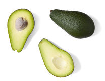 Avocado halves Stock Photography