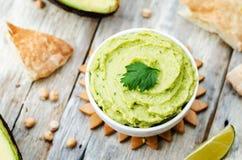 Avocado hummus Stock Image