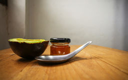 Avocado i miód Obrazy Stock