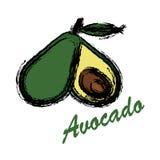 Avocado ikona i owoc ikona i Obrazy Stock