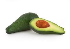 Avocado isolated on white. Background with clipping path stock photo