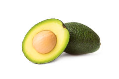 Avocado isolated on a white background Royalty Free Stock Photos