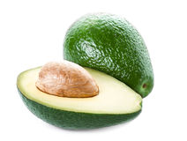 Avocado isolated on white background. Fresh green Avocado frui Royalty Free Stock Photo