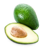 Avocado isolated on white  background. Fresh green slice  Avocad Royalty Free Stock Photography