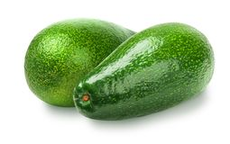 Avocado isolated on white. Background. Whole avocado close-up with clipping path stock photo
