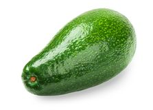 Avocado isolated on white. Background. Whole avocado close-up with clipping path royalty free stock photos
