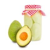 Avocado jar Royalty Free Stock Images