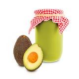 Avocado jar Stock Images
