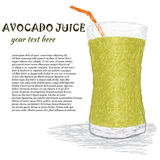 Avocado juice stock illustration