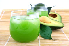 Avocado juice Royalty Free Stock Photo