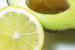 Avocado and Lemon Royalty Free Stock Photography