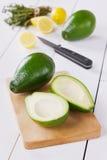 Avocado with lemon Royalty Free Stock Image