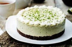 Avocado lime cheesecake Stock Photography