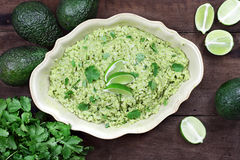 Avocado Lime Cilantro Rice Royalty Free Stock Image