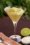 Avocado and lime mousse Stock Photos