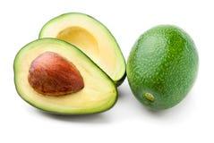 Avocado lokalisiert auf Weiß stockfotos