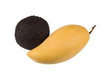 Avocado and mango isolated on white Royalty Free Stock Photos