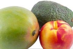 Avocado Mango Nectarine Stock Photo