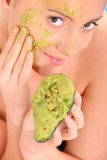 Avocado mask Stock Image