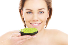 Avocado mask Royalty Free Stock Photography