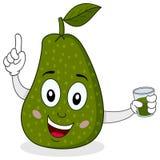 Avocado met Vers Gedrukt Sap Royalty-vrije Stock Afbeelding