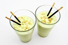 Avocado milkshake Stock Photos