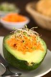 Avocado mit Karotte und Sprösslingen Lizenzfreies Stockfoto
