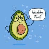 Avocado mit Spracheblase Ballonaufkleber Kühles Gemüse Auch im corel abgehobenen Betrag Kluger Sonderlingscharakter der Avocado G Stockfotos