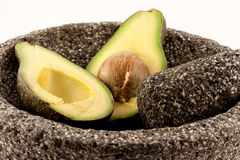 Avocado in Molcajete Royalty Free Stock Image