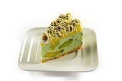 Avocado mousse cake Stock Photos