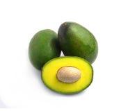 Avocado na białym tle obrazy royalty free